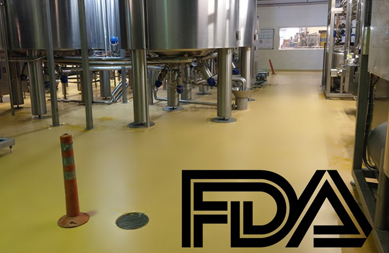 Resin flooring in accordance with GMP and FDA regulations