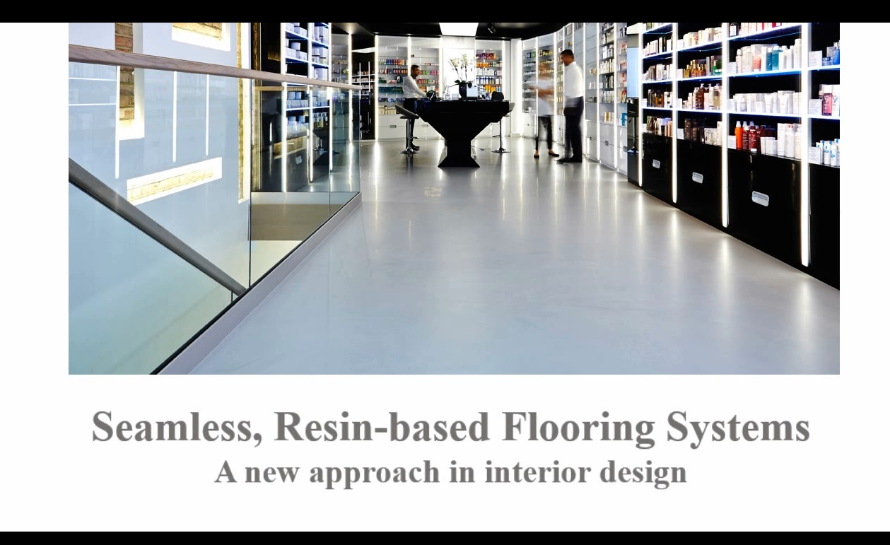 Resin-based floorings: new approach in interior design